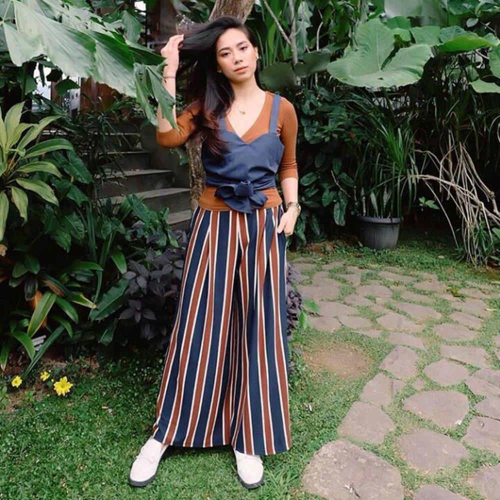 Celana Kulot Panjang Wide Stripe Premium