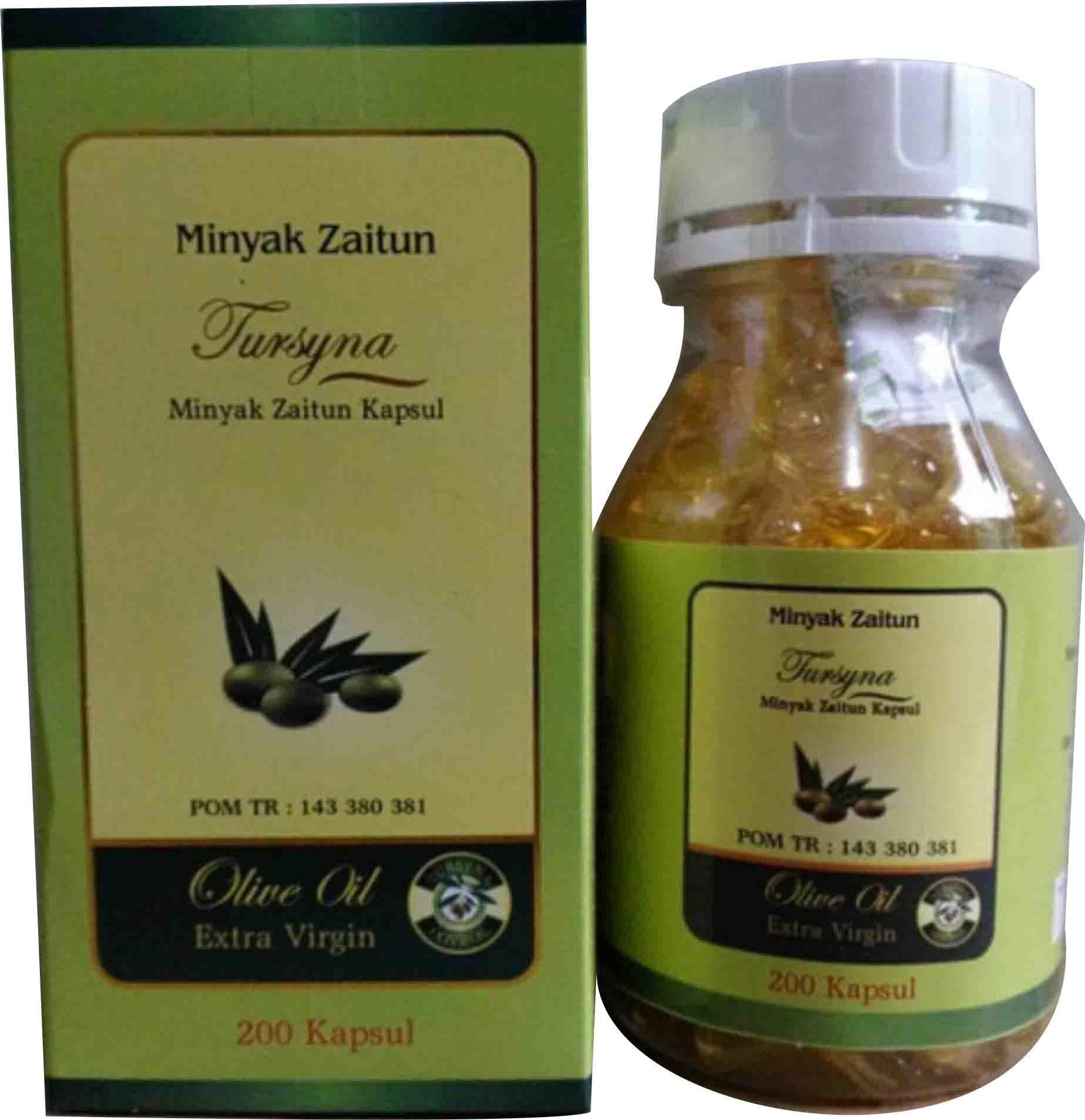 Kapsul Zaitun Al arobi  Zaitun Tursyna 200 kp/Kapsul Minyak Zaitun Al Arobi extra virgin oil olive