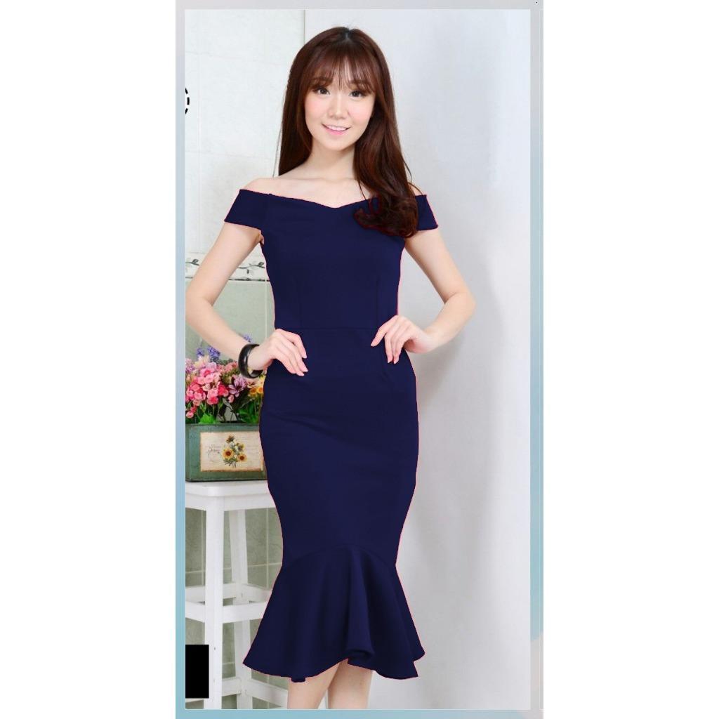Popuri Fashion Dress Miranda - Wedges Scuba Baju Wanita Lengan Pendek Baju Dress Wanita Murah Kekinian Terbaru Gaun Pakaian Gaun Dress Wanita Dresss Gaun Dress Wanita Dres