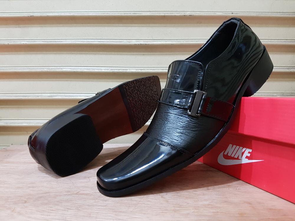 Promo Sepatu Nike pantofel gesper kulit asli hitam formal elegan pria  Fashion
