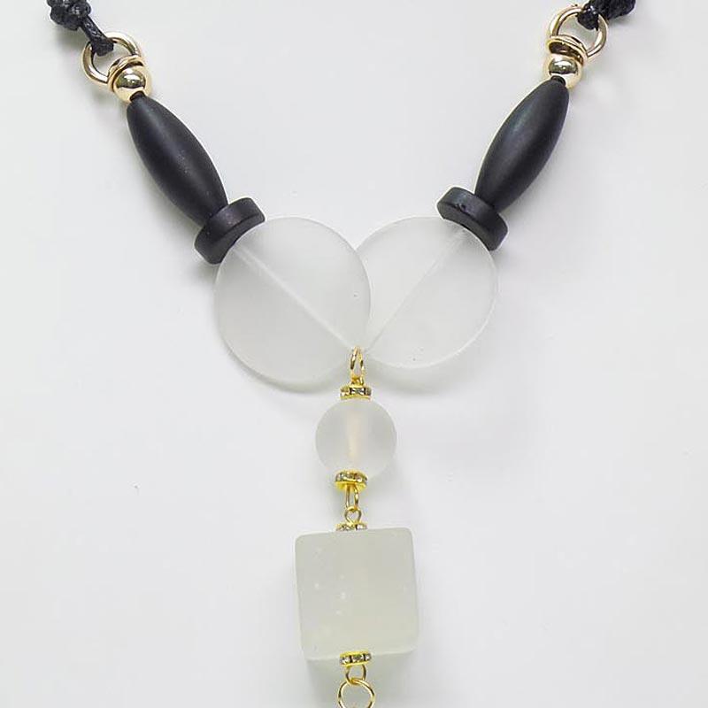 Gambar Detail Barang OFASHION Aksesoris Kalung CA-180314-K007 Necklace Fashion Xuping Jewelry Hitam Hitam Terbaru