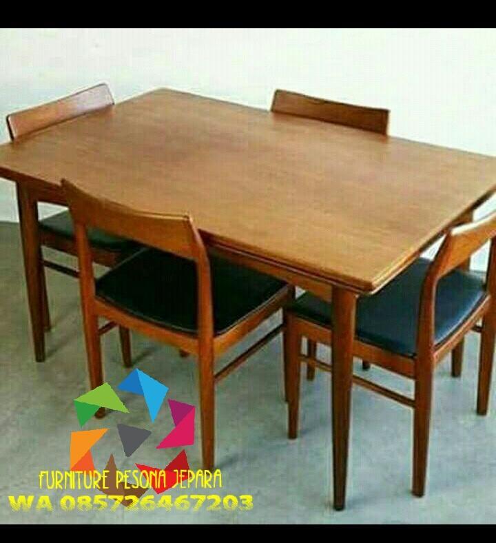 Meja makan minimalis kayu jati. PESONA JEPARA 23