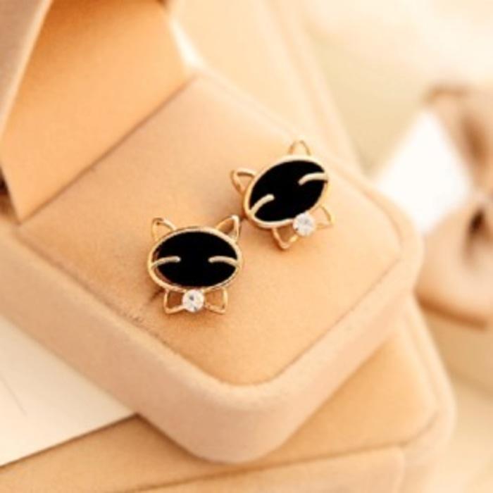 Anting Emas Kucing Diamond / Earrings Cat Diamond Gold NUZ002