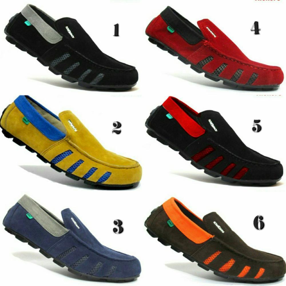 Promo Sepatu Kickers slip on slop hitam merah tan navy orange / sepatu gaya / sepatu casual santai fashion trendy pria #nike #adidas #lacoste #crocodile Fashion