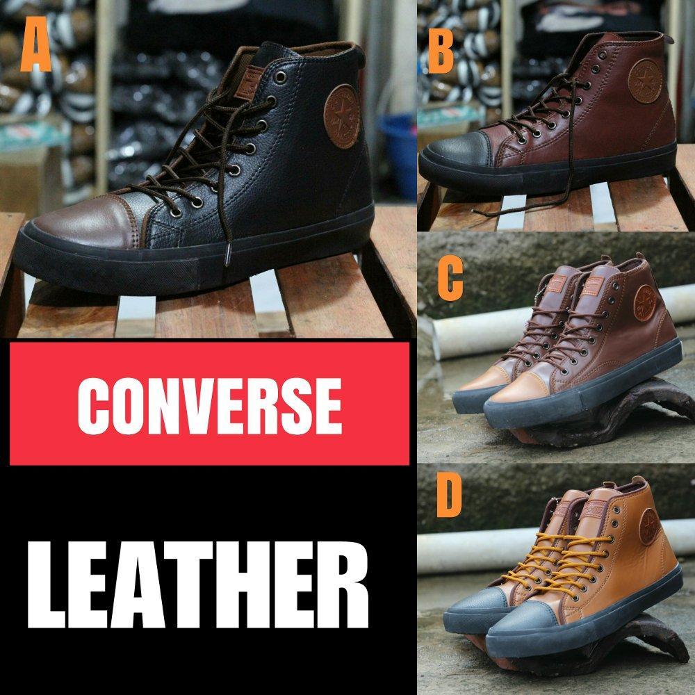 Promo Promo murah CONVERSE leather - Sepatu Sneakers kasual pria Diskon