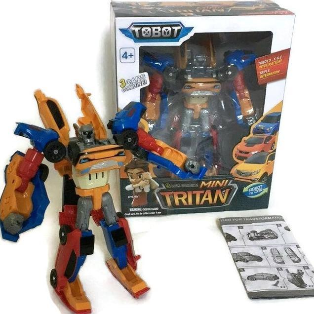 AHS Mainan Tobot Mini Tritan 3 Cars Combine