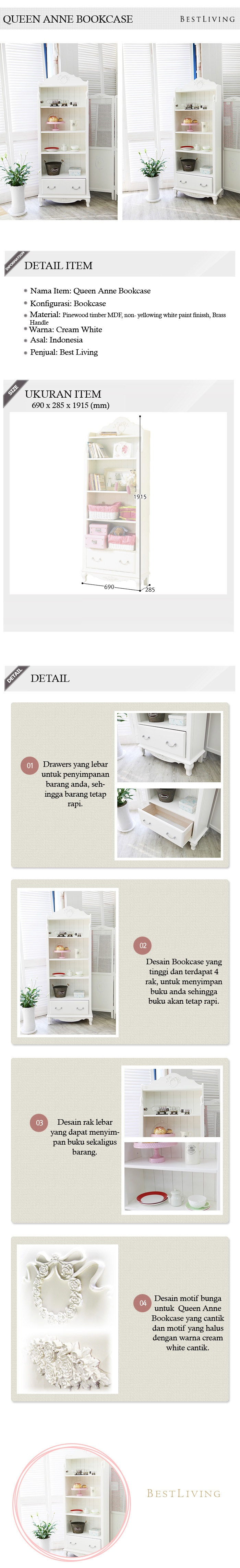 The Olive House Rak Buku Queen Anne Khusus Area Luar Pulau Jawa Rora 1500 Tv Cabinet Spesifikasi Dari