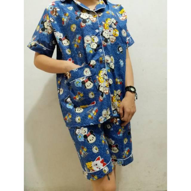 RX Fashion Piyama Pajamas Disney PDK Bahan Katun Jepang Fit L 1R