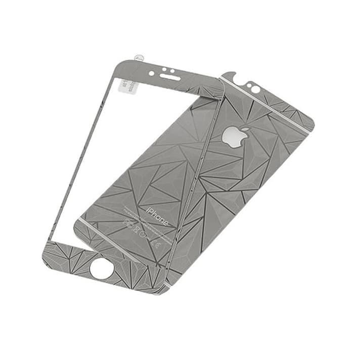 Tempered Glass Diamond iPhone 4 or 4S - Silver