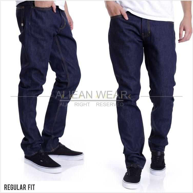 AW Celana Jeans Regular Fit - Celana Denim Standar Non Stretch