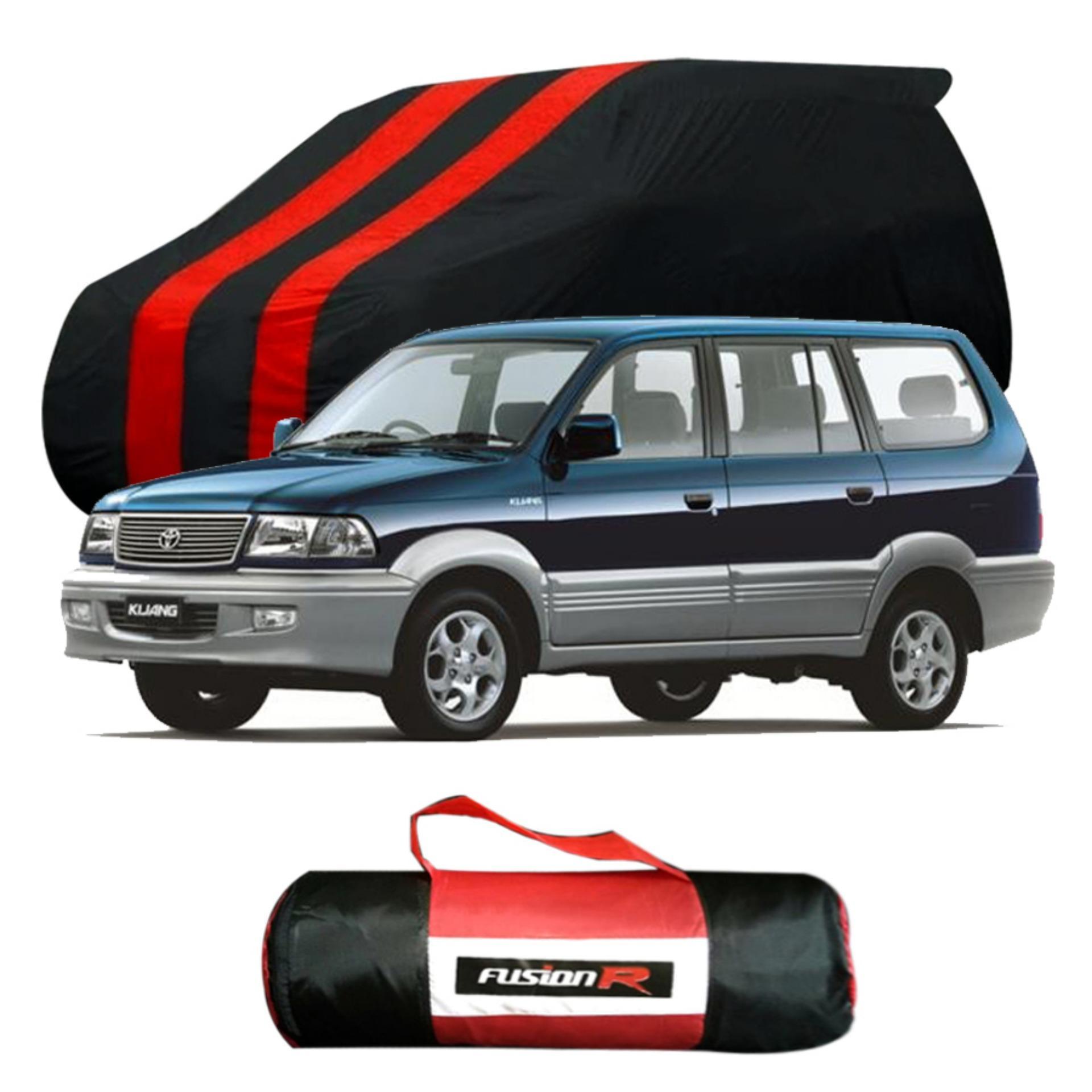 Vanguard Body Cover Penutup Mobil KIJANG LONG Merah Hitam Waterproof / Sarung Mobil KIJANG LONG Premium