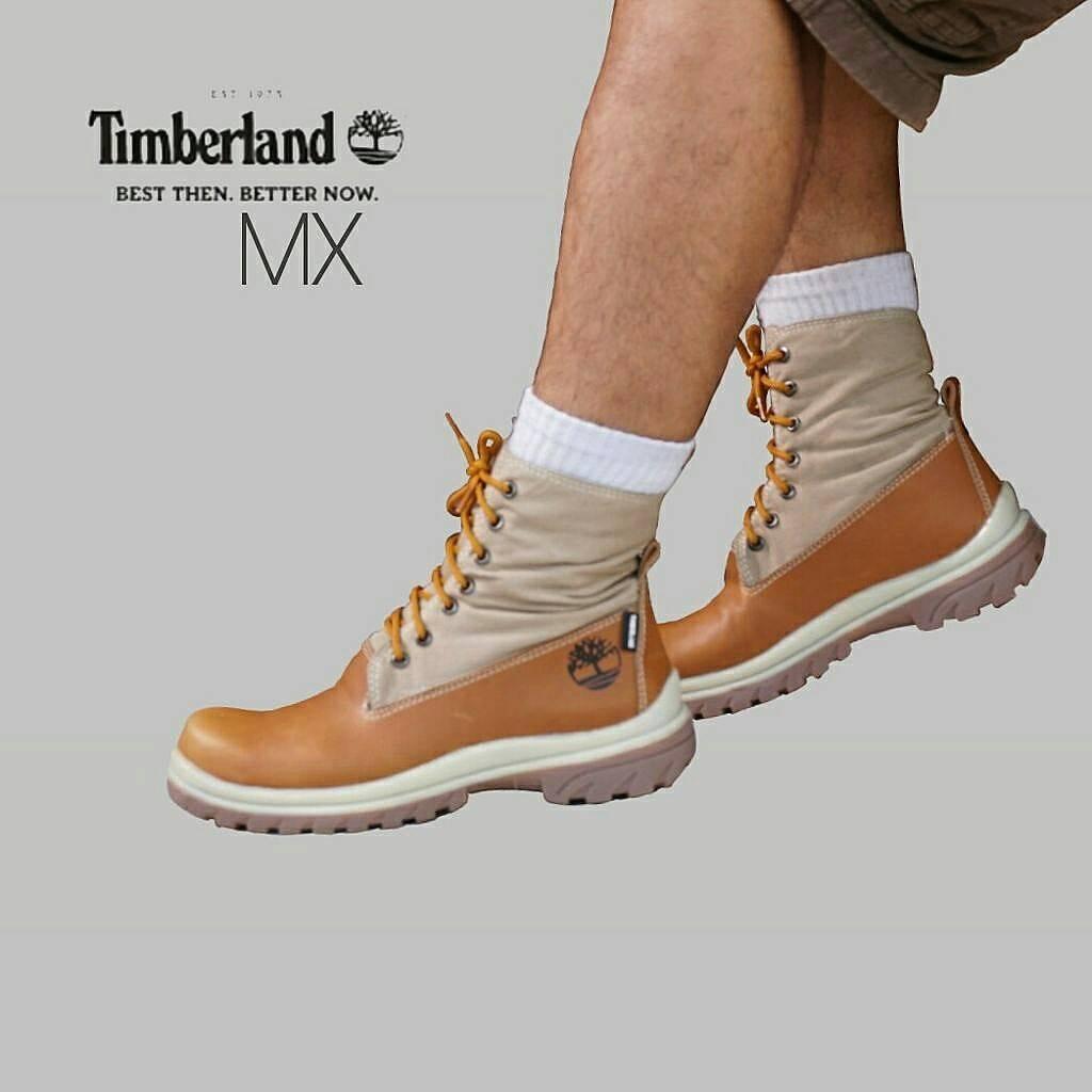 Sepatu Boots Tinggi / PDL Timberland Safety Sepatu Trail / Tracking / Sepatu Anak Motor Size 39-43 Sintetis - Tan - Coklat - Hitam