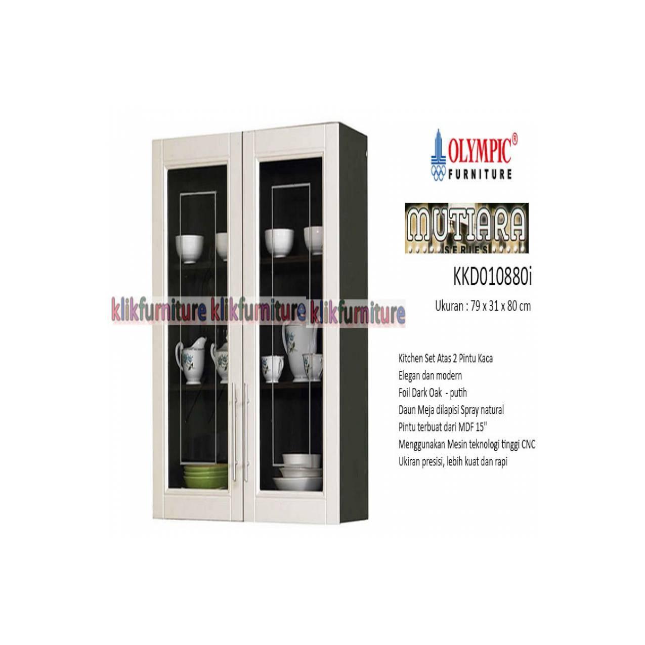KKD 010880i Olympic Mutiara Kitchen Set Atas 2 Pintu