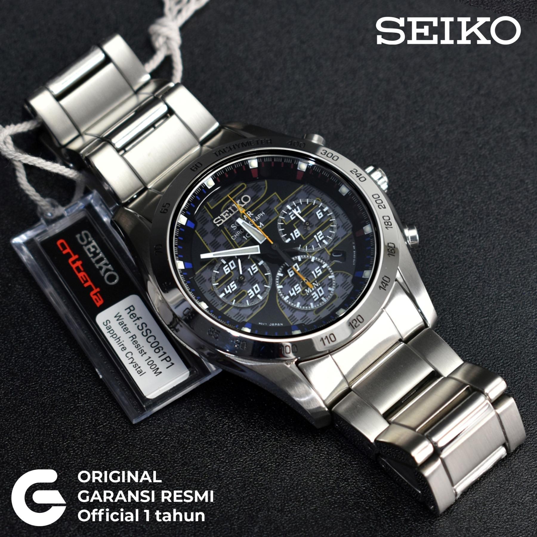 SEIKO Jam Tangan Pria SEIKO Solar Chronograph Tali Rantai Logam Stainless  Steel Anti Air Tenaga Matahari 643c903aa2