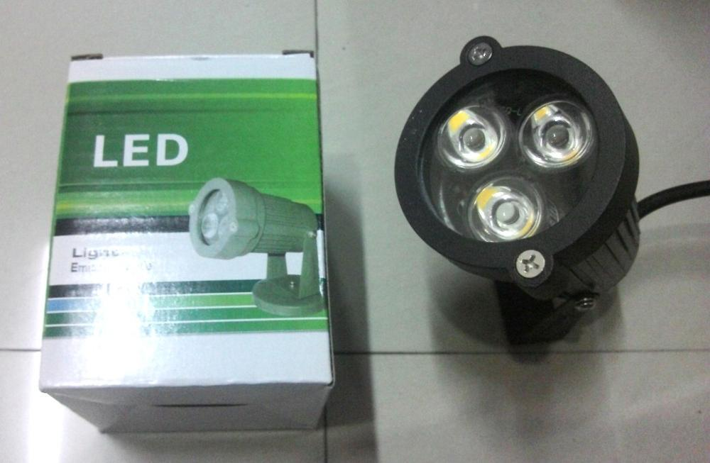 LED Sorot 3W WARM WHITE Lampu Taman Spotlight BULAT 3X1 Watt OUTDOOR Murah