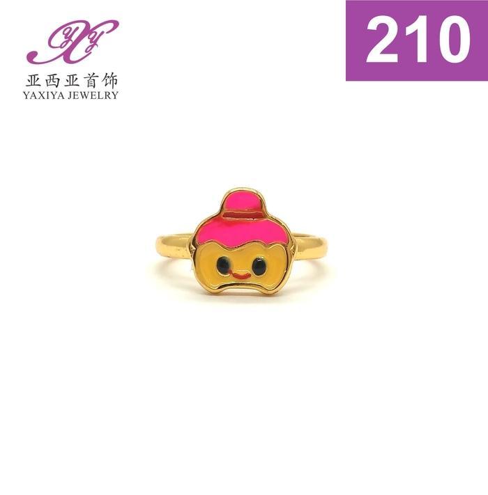 Cincin Anak Lapis Emas Karakter Perhiasan Imitasi  210