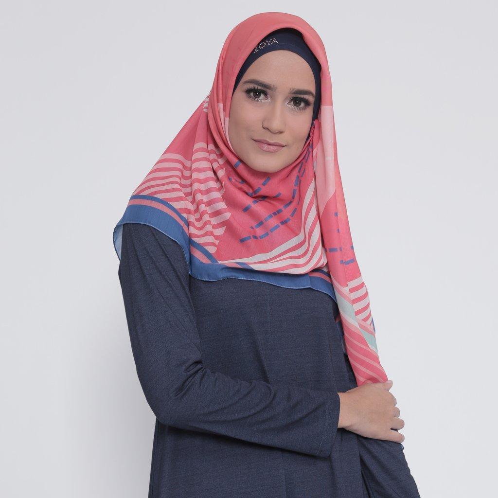 Kerudung Zoya Hijab Segiempat - Daisy Scarf
