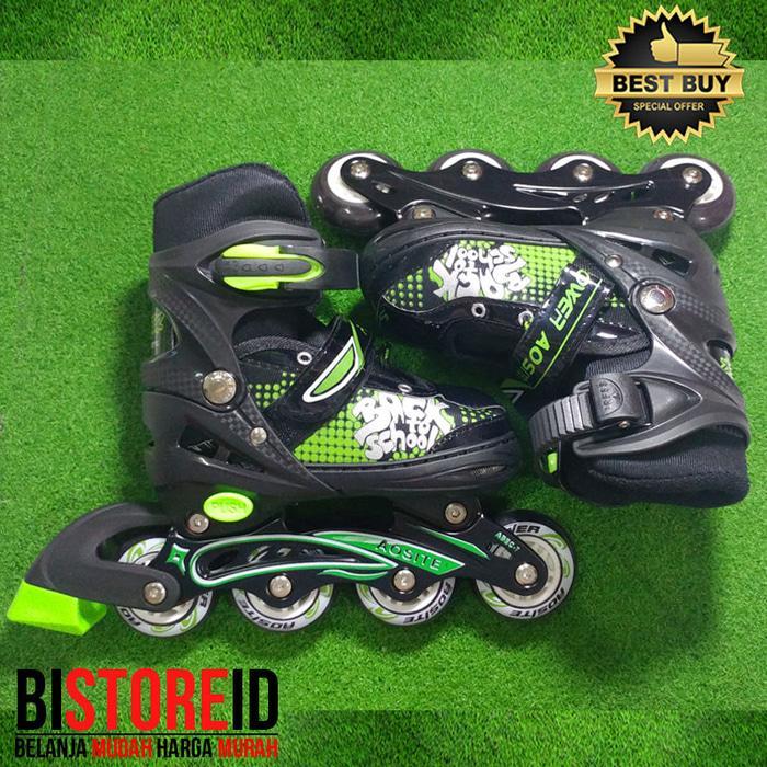 Sepatu Roda Power Aosite Ban Karet PU 7100 Hijau + bajaj PROMO