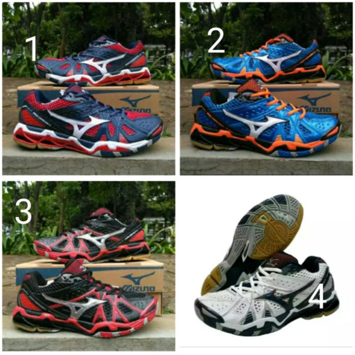 SEPATU VOLLY BALL MIZUNO WAVE TORNADO9 LOW MADEIN VIETNAM - iWlCPA