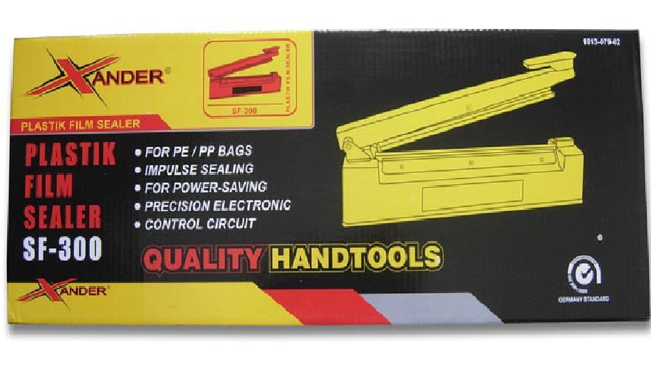 Impulse Sealer Xander 30cm body besi SF-300 / Mesin Pengemas Plastik