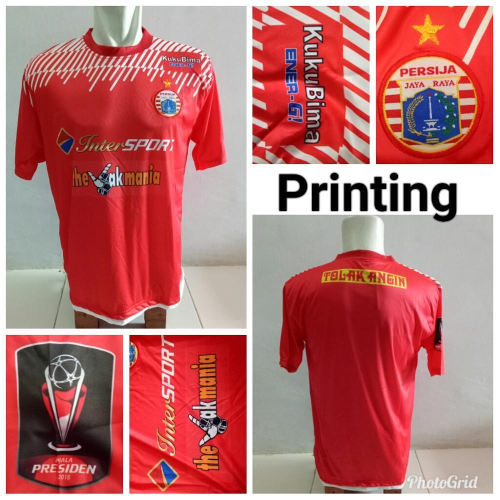 Jersey Baju Persija Home Juara Final Piala Presiden 2018 Kaos Jersy Jersi Tshirt T Shirt Bola Persija Jakarta Liga Indonesia Grade Lokal ALLSIZE