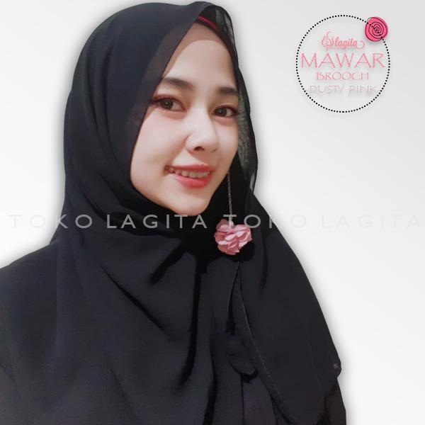 Lagita Hijab Mawar Brooch - Bros Sabyan Bunga Juntai [Pilih Warna]
