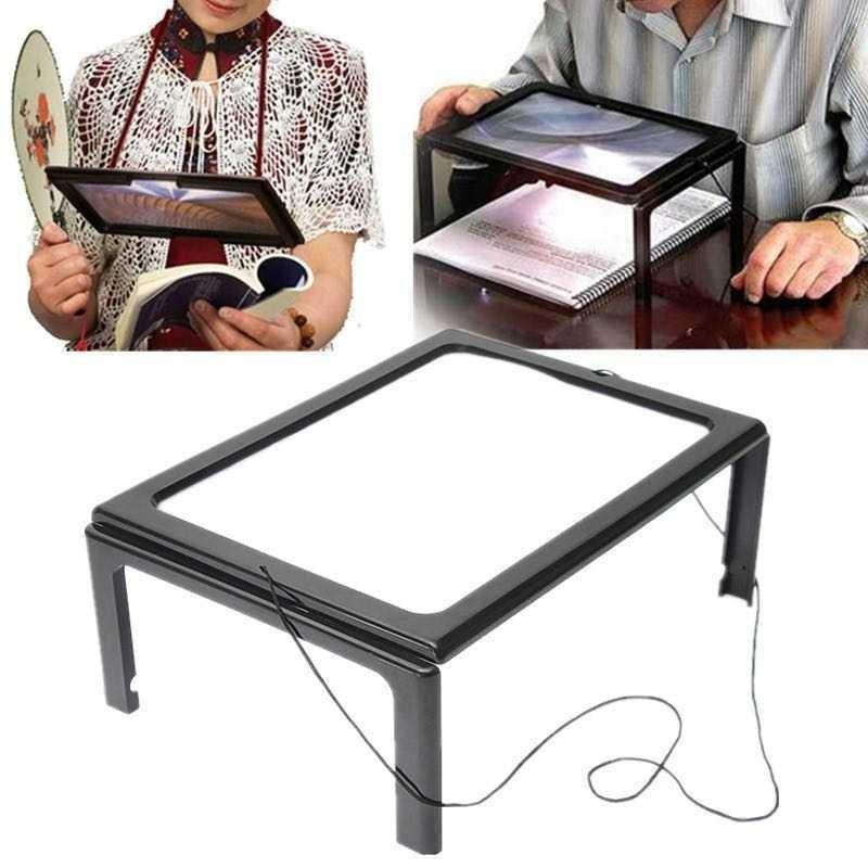TERLARIS!!! Kaca Pembesar Bentuk Meja dengan Lampu LED HARGA TERMURAH