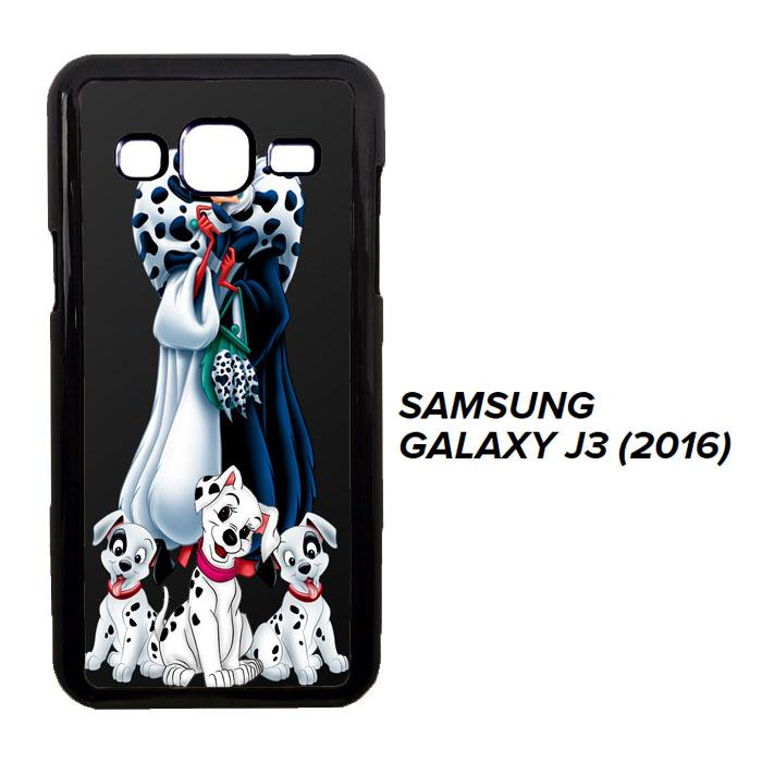 cruella de vil with dalmatian L0435 Casing Samsung Galaxy J3 2016 Cust