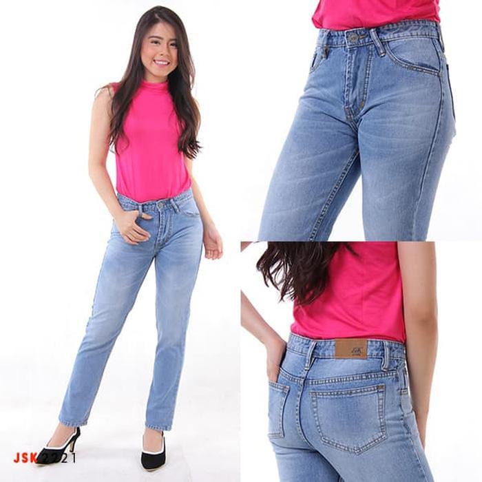 JSK 2221 - Celana Boyfriend Wanita Berhijab - Biru Muda- 27