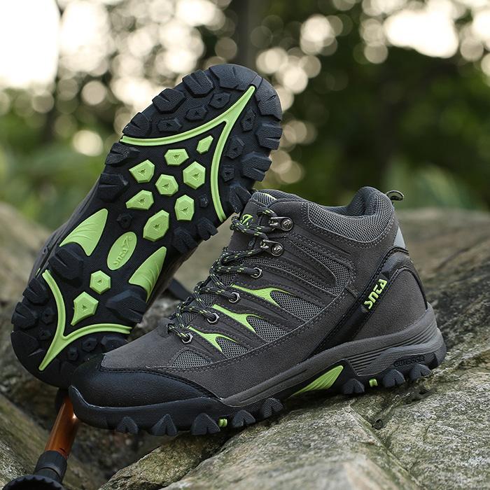 Sepatu Gunung Snta 475 GREY GREEN Trekking/Hiking/Adventure/Outdoor - 83l0lR