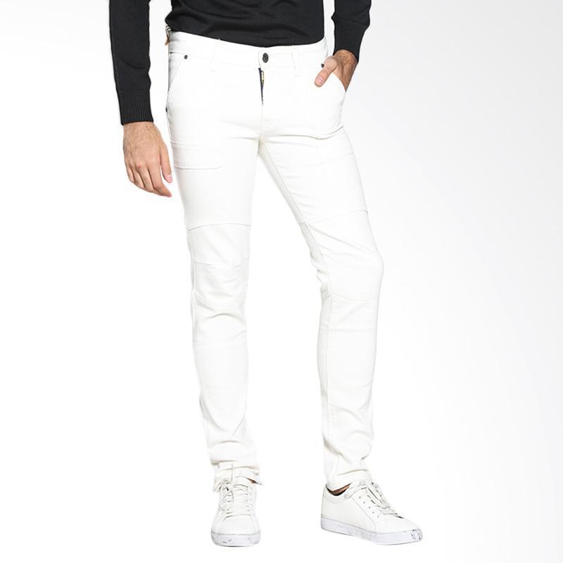 celana terbaru skinny putih pria bahan bagus jahitan rapi harga murah