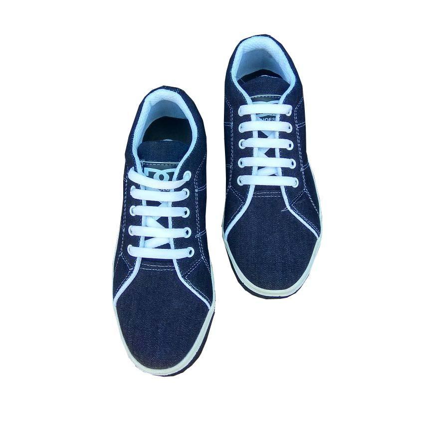 Gambar Produk Rinci ManiacShop Sepatu Kets Pria Dc Kwl Sneakers - Hitam Terkini