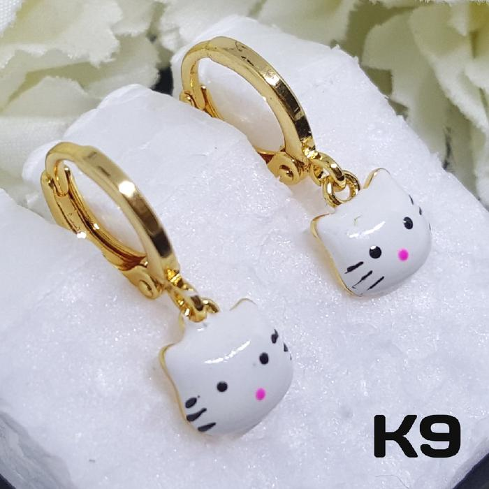 K9 Anting Anak Hello Kitty - Perhiasan Lapis Emas 18K - Xuping