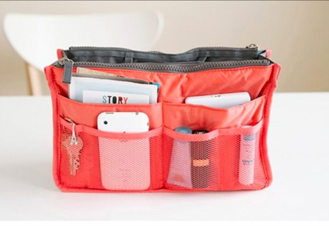 Korean Import Bag In Bag Dual Zipper Tas Organizer