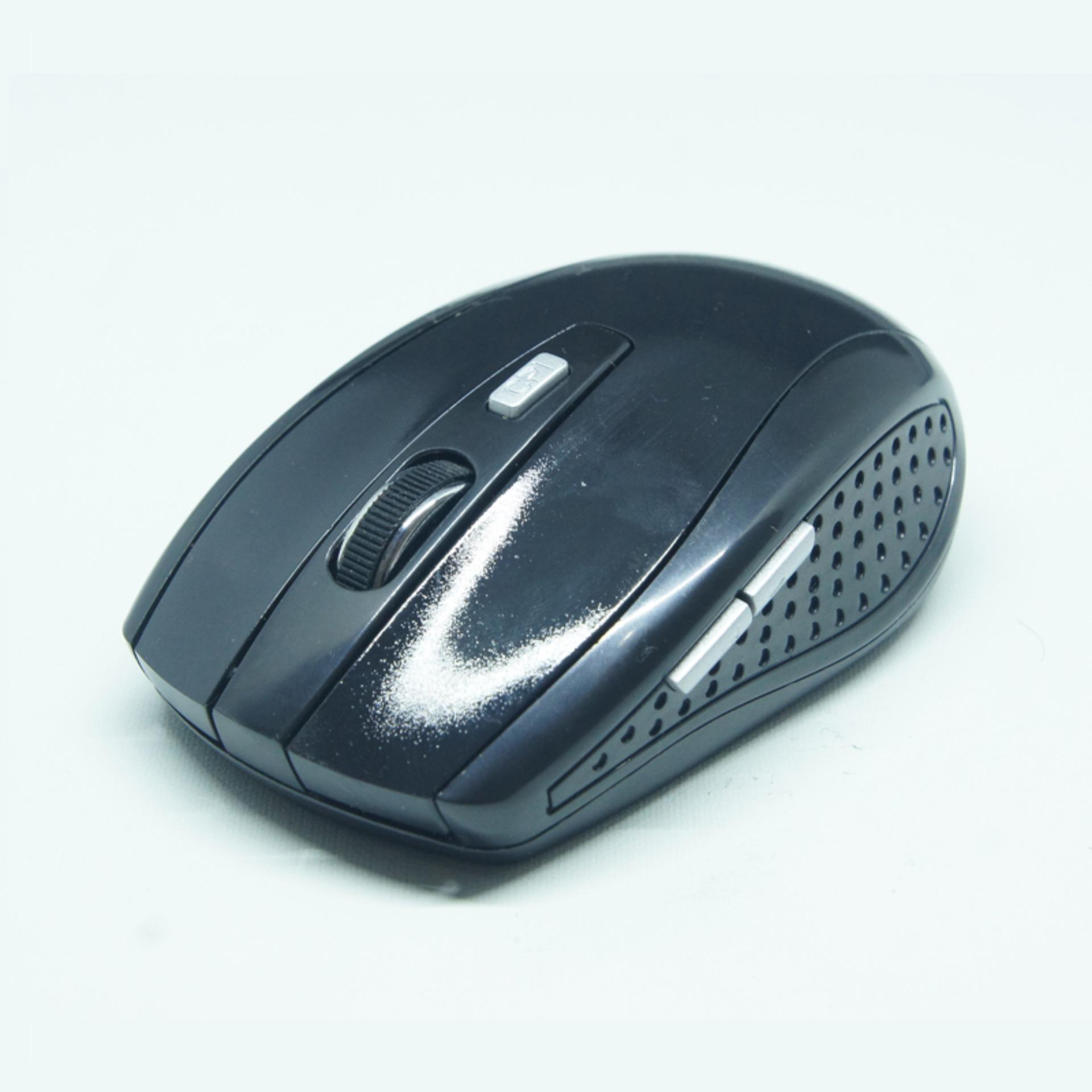 Mouse nirkabel Wireless 083 Hitam - 5 .