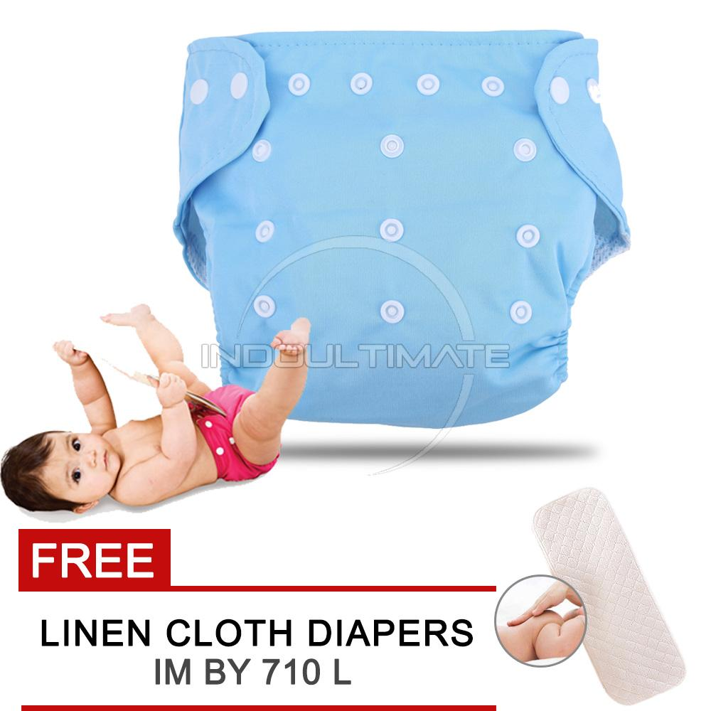 CLOTH diaper / Cloth diapers / Clodi Popok Kain Bayi BY 72 / Pampers Kain BLUE + FREE INSERT
