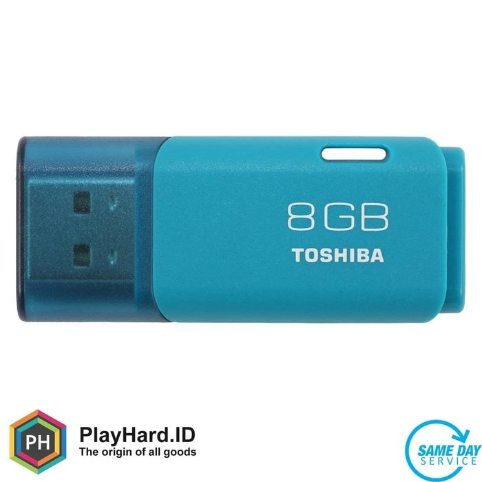 Toshiba Hayabusa USB Flash Drive 8GB - THN-U202W0080 - Light Blue