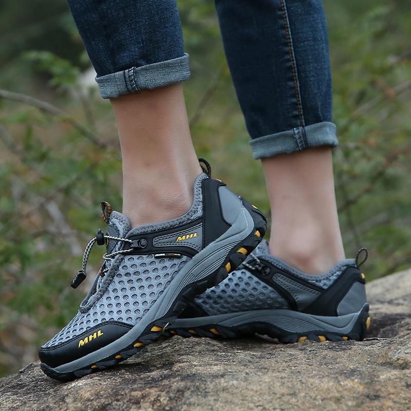 MENTEE Pria Hiking Sepatu Bernapas Sepatu Musim Panas Air Aqua Sepatu Luar  Sepatu . d40a199218