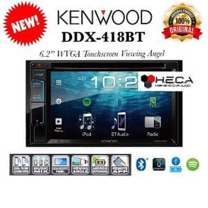 Kenwood DDX-418BT Head Unit DDX 418 BT Tape Mobil Double Din A Limited