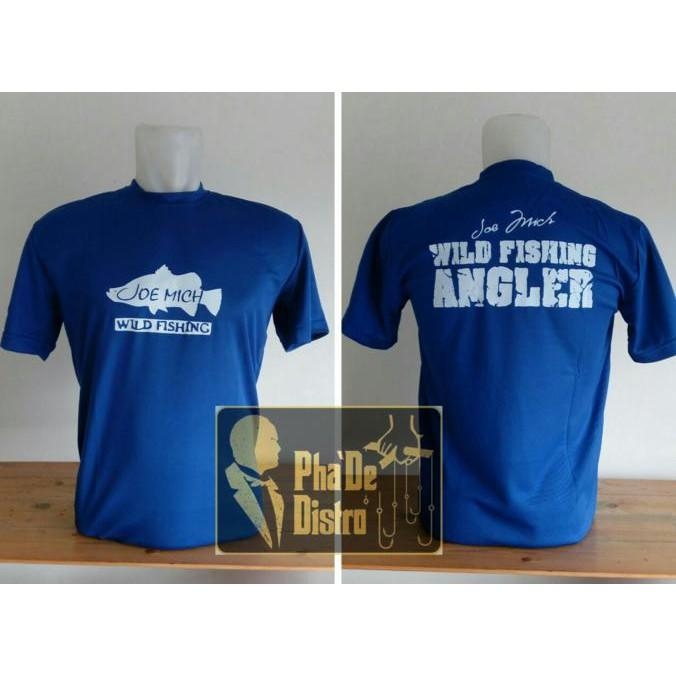 Kaos Wild Angler Barramundi Biru Muda - Pancingqsad