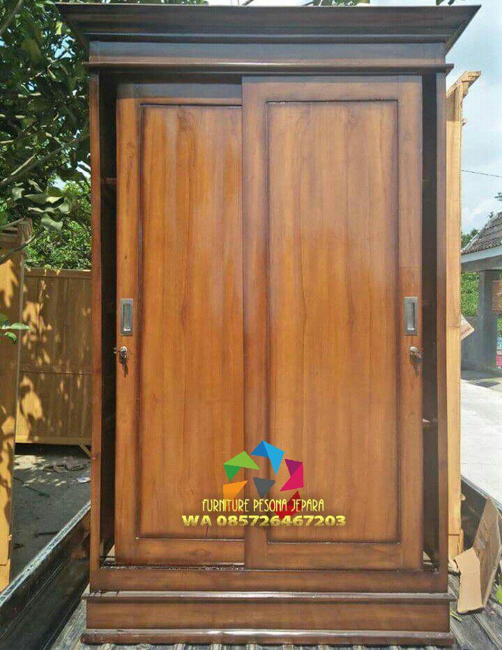 Almari pintu 2 sleding, LEMARI JATI. PESONA JEPARA 07