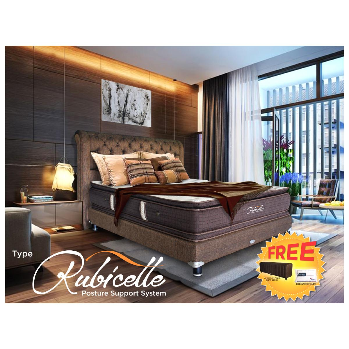 FREE ONGKIR American Pillo Spring Bed RUBICELLE - BED SET 200 x 200