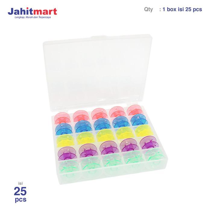 Bobbins - Spool Mesin Jahit Portable plastik (Warna)