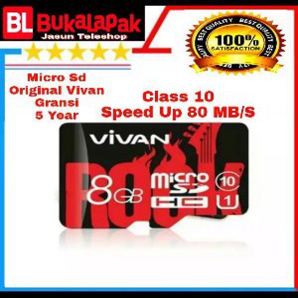 Micro Sd 8 Gb Class 10 Memori Memory Card Orginal Vivan Rival Sandisk Ultra Class 10