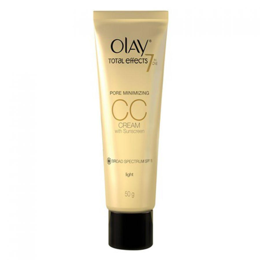 Olay Total Effect 7in1 One Pore Minimizing CC Cream SPF15 Light 50gr Facial Care Perawatan Wajah Alami - Best Seller