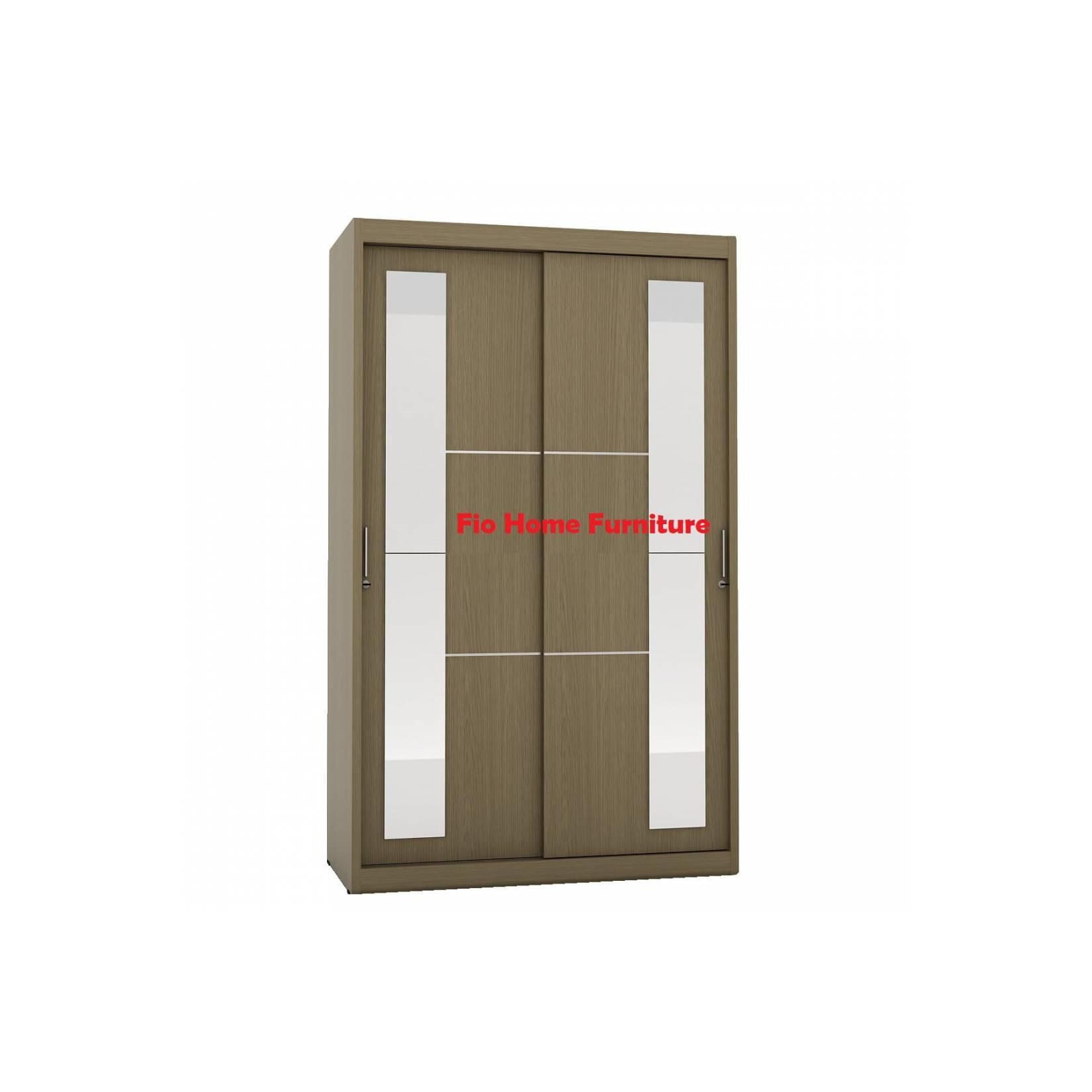 Lemari Pakaian 2 Pintu Geser Setengah Cermin Pro Design Ohio