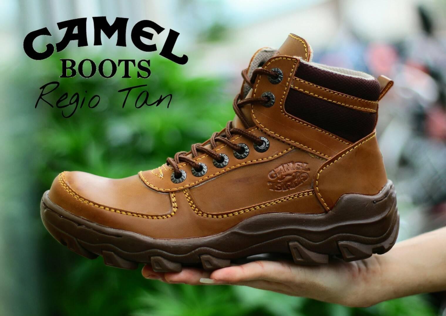 Camel Original - Sepatu boots pria safety camel kerja formal santai proyek  lapangan outdoor hiking 8432d44609