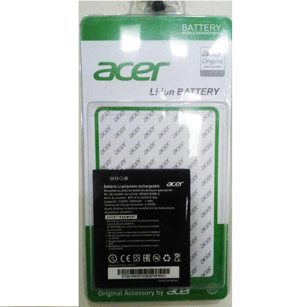 Baterai Acer A11 For Acer Z410 Z320 Z330 Batre HP Original [2000 mAh]