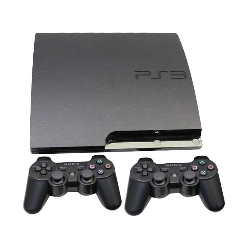 PS3 slim CFW/Multimen 4.82 support Hardisk external( 500GB )+ 2 Stick Wireless Game Console