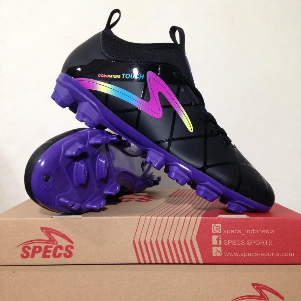 Sepatu Bola Specs Diablo FG FT Black Violet 100721 Original BNIB